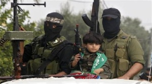 Palestinian Terrorists with Child